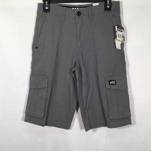 Zoo York Gray Shorts True Flex Cargo Boys Size 14
